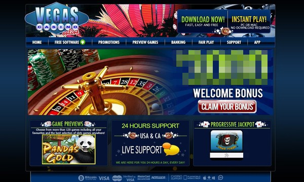 vegas online casino screenshot